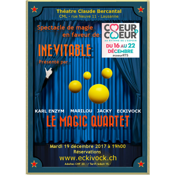 Spectacle de magie par le Magic Quartet